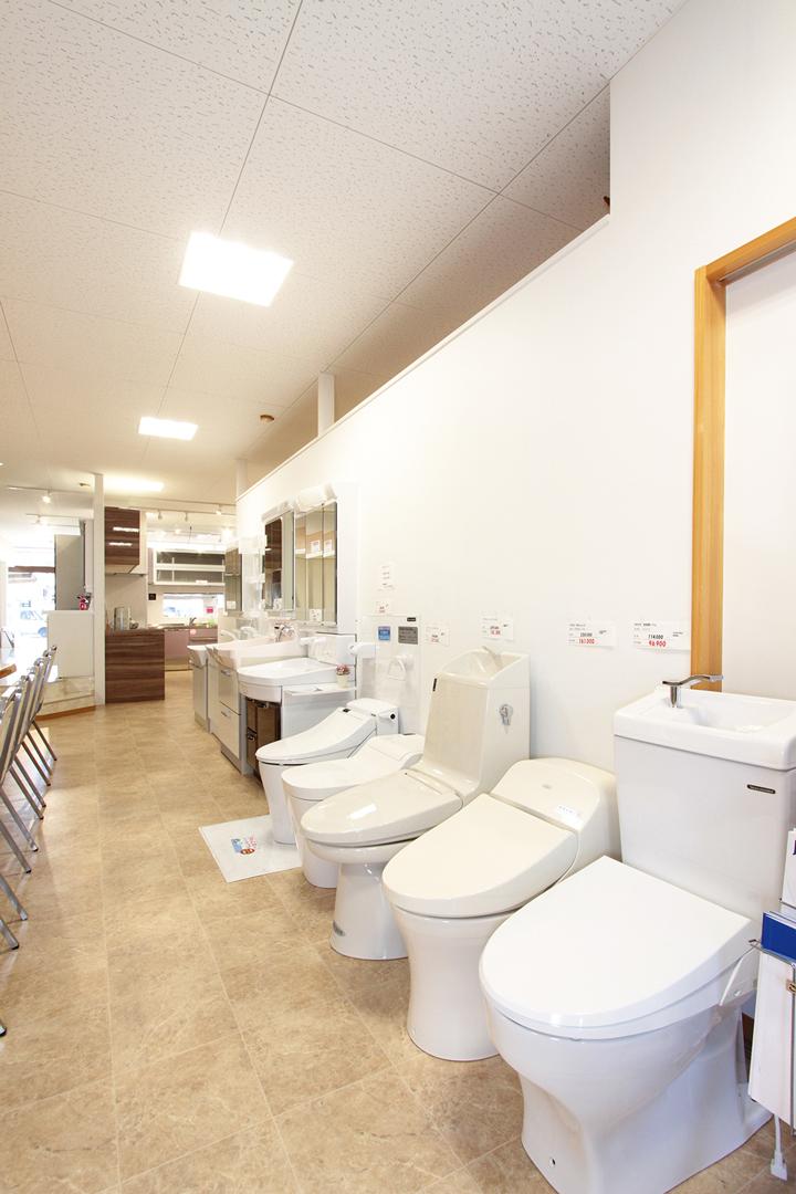 洗面化粧台・トイレ展示コーナー